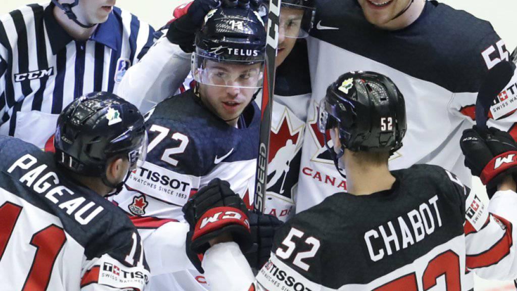 Können die Kanadier auch im Viertelfinal gegen Russland jubeln?
