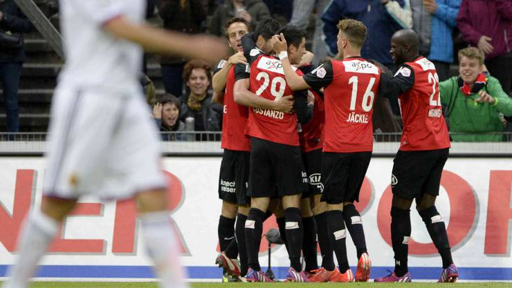 Der FC Aarau gewinnt das Aargauer Derby gegen Baden mit 8:2. (Archiv)