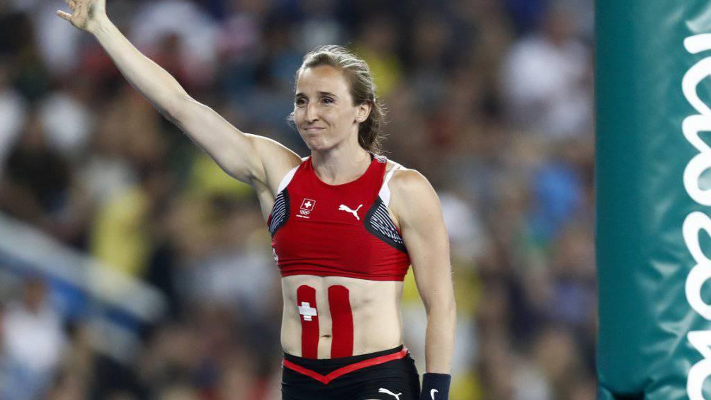 Nicole Büchler, hier nach ihrem letzten Sprung an den Olympischen Spielen in Rio, ist die Schweizer Leichtathletin des Jahres