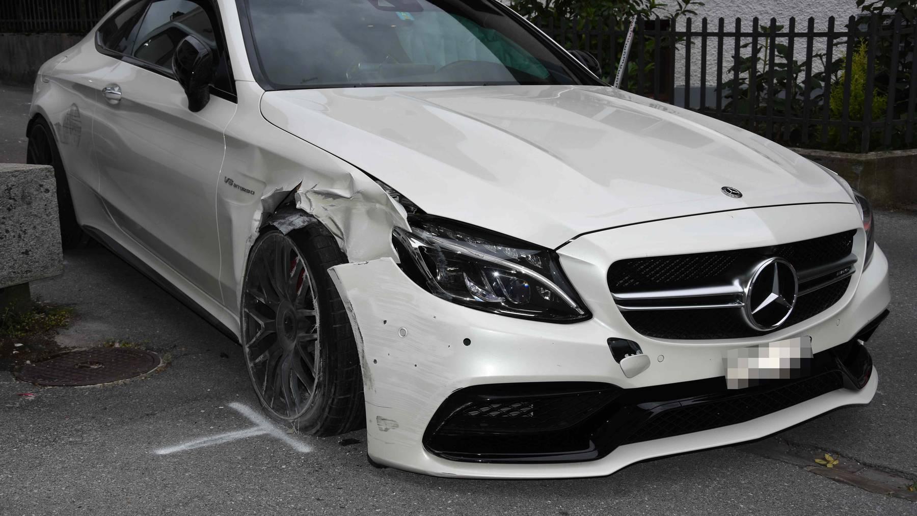 Diesen Mercedes klaute der Dieb in Mels.