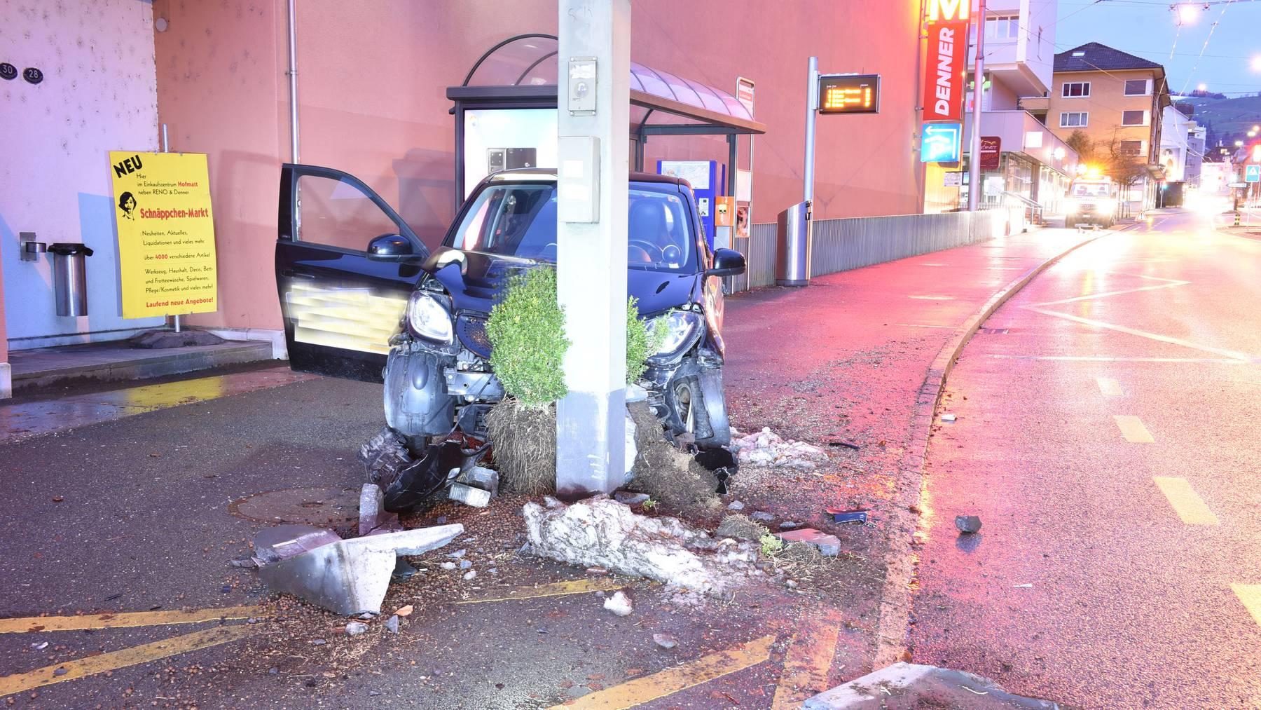 Der Unfall ereignete sich am Samstagmorgen auf der Luzernerstrasse.