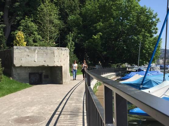 Ihn hätte Tiefbauvorstand Filippo Leutenegger lieber weg gehabt - ein denkmalgeschützter Bunker aus dem Zweiten Weltkrieg.