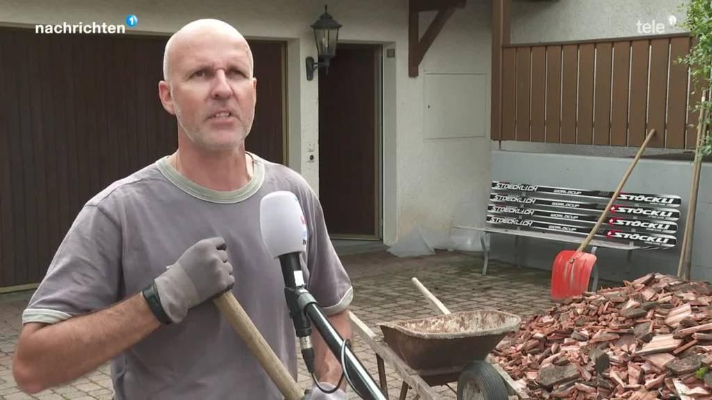 Unwetter sorgt für Schäden an Hausdächern
