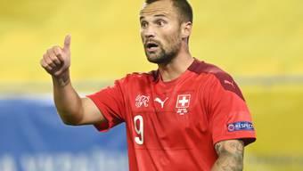 Haris Seferovic (hier im Dress der Nationalmannschaft) erzielte für Benfica sein erstes Saisontor