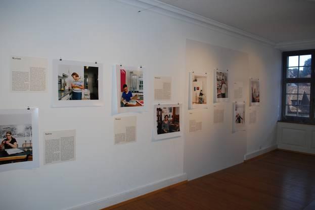"""Der Teil """"Bei Juden zu Hause"""" der Ausstellung"""