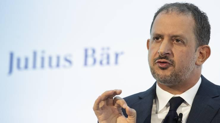 Julius-Bär-Chef Philipp Rickenbacher will die Bank produktiver machen und so die Aktionäre bei der Stange halten.