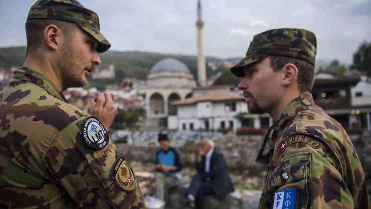 Schweizer Soldaten der Kfor in ihrem Einsatz im Kosovo.