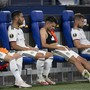 Die FCB-Spieler sind nach dem Abpfiff enttäuscht und ratlos.