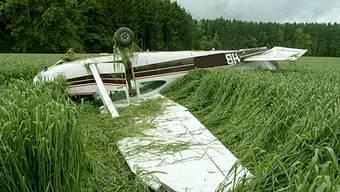 Ein Flugzeug im Kornfeld