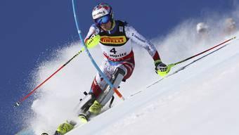 Die Schweizer Slalom-Medaillenhoffnung Daniel Yule lauert auf Zwischenrang 11.