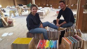 Möbel aus Büchern