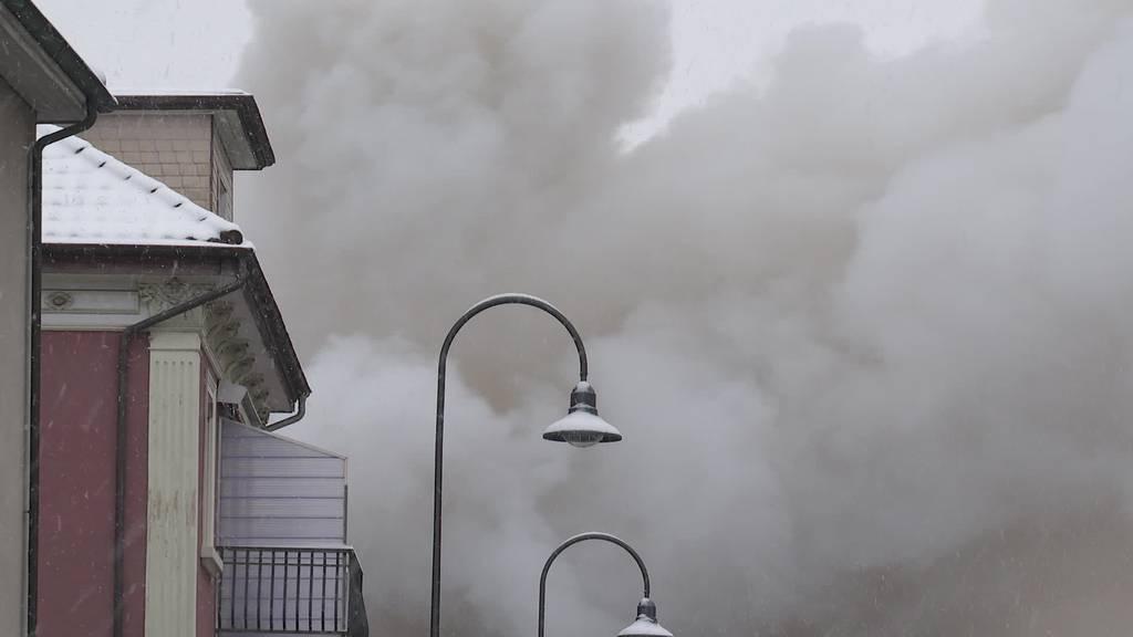 Grossbrand in Rorschach: 6 Personen vorübergehend obdachlos