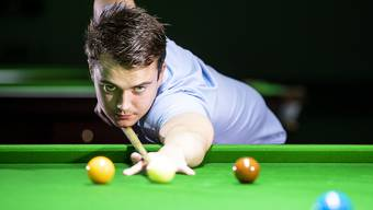Der Schweizer Snooker-Profi Alexander Ursenbacher bewahrte die Ruhe