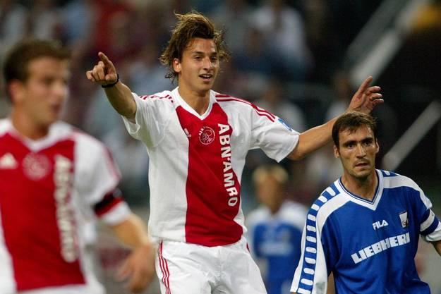 In jungen Jahren traf er für Ajax Amsterdam