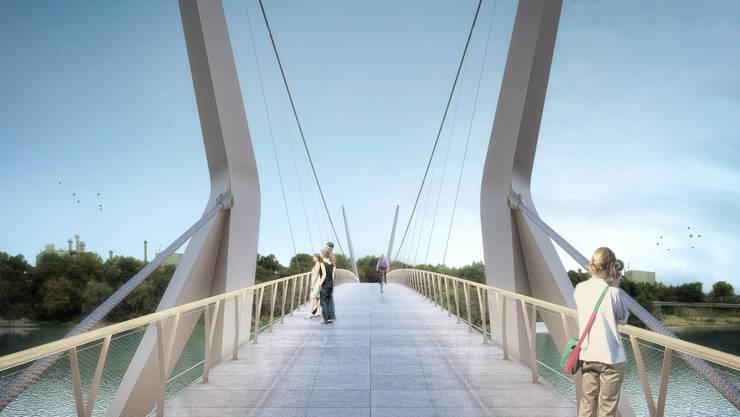 Schön, aber teuer: Der Rheinsteg kostet 12,7 Millionen Euro – das ist fast doppelt so viel wie ursprünglich gedacht.