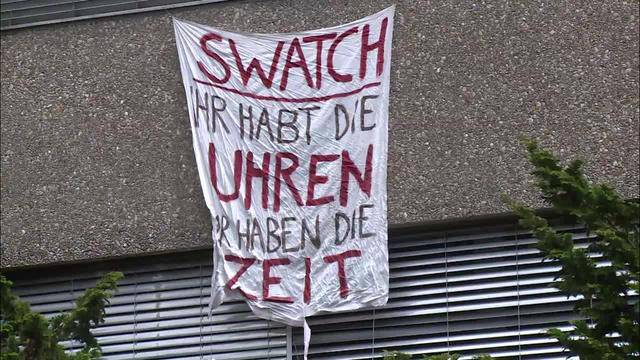 Besetztes Swatch-Gebäude soll geräumt werden
