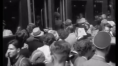 «Sicher, rasch, bequem»: Herr Huber und seine liebe Mühe mit der SBB im Werbefilm aus dem Jahre 1953.