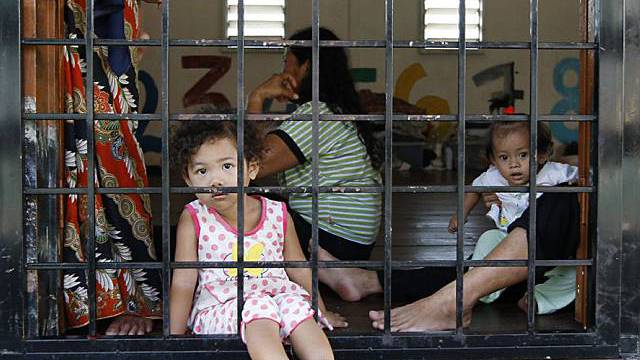 Kinder in einem Gefängnis in Malaysia (Archiv)