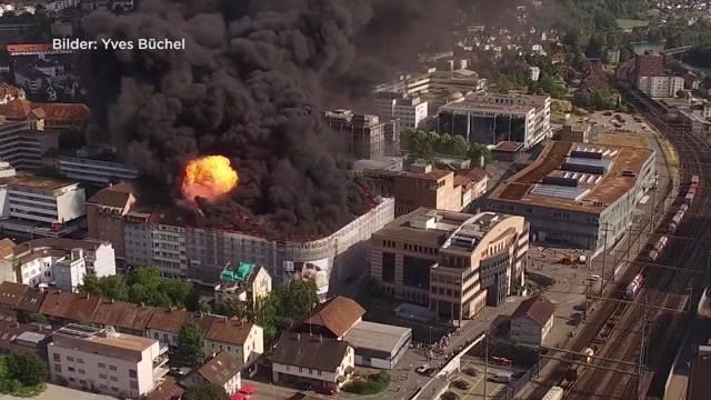 Neue Drohnenbilder des Oltner Grossbrandes