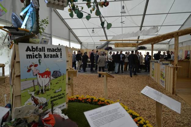 Thema Littering im Landwirtschaftszelt