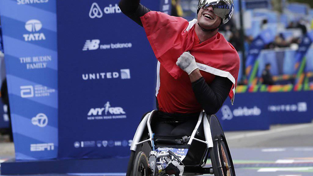 Gewann den New York Marathon der Rollstuhlfahrer zum dritten Mal: Marcel Hug