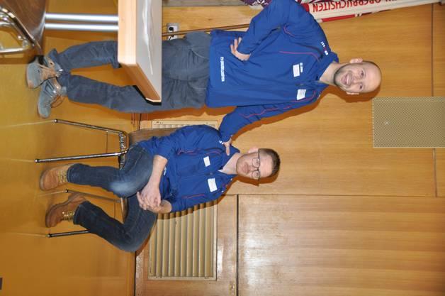 Oberturner Gjergj Nuaj mit Präsident Michael Plüss
