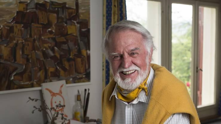 «Gefällt Ihnen das?» Der Bühnenbildner Toni Businger in seinem Wettinger Atelier.