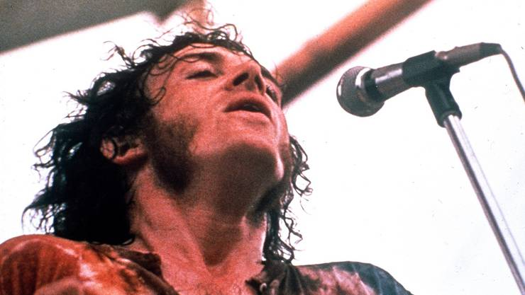 <p>Joe Cocker bei seinem Auftritt am Woodstock Festival 1969</p>
