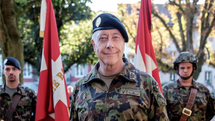 Armeechef André Blattmann gab das Interview am Rande des grossen Defilees in Zofingen.Mario Heller