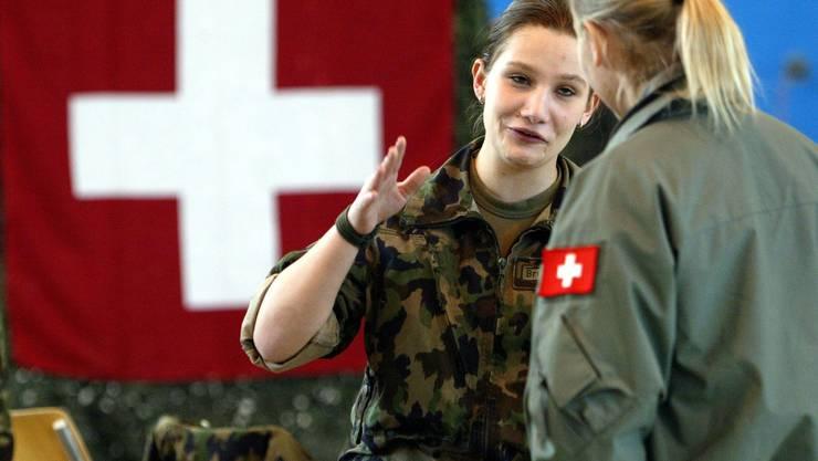 Immer häufiger anzutreffen im Militär: Frauen