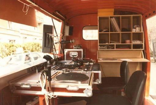 Der alte Studiobus von Innen...