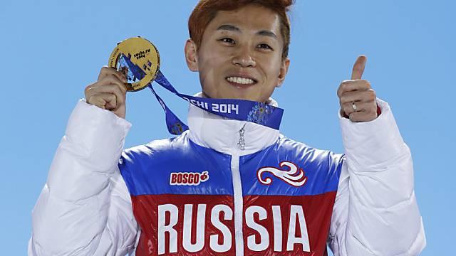 Medaillenhamsterer: Shorttracker Viktor Ahn aus Russland