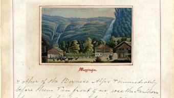 Tagebuchauszug Meiringen von Jemima Morrel aus dem Jahr 1863.