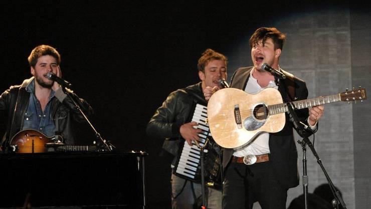 Die britische Folkrockband Mumford & Sons.