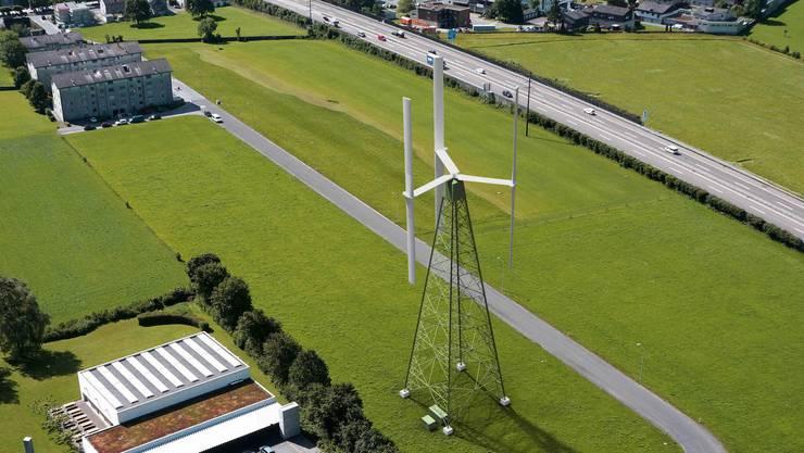 Vertikale Windräder können langsam drehen, ohne dass die Strömung am Rotorblatt abreisst.