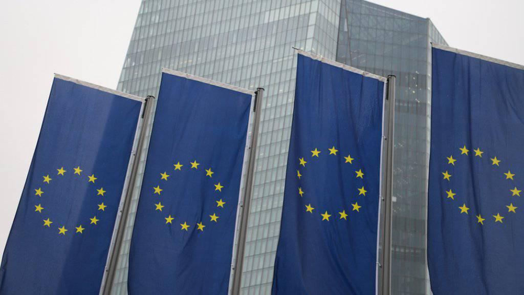 Die EU-Kommission rechnet 2018 in den 19 Ländern, die den Euro als Währung haben, mit einer Zunahme des Bruttoinlandprodukts um 2,3 Prozent. Im Bild die Europäische Zentralbank in Frankfurt.