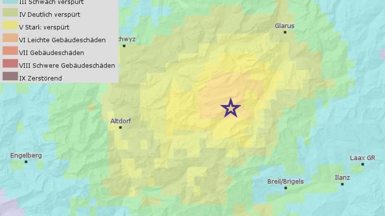 Die Schweiz hat gebebt: Erdbeben der Stärke 4,6
