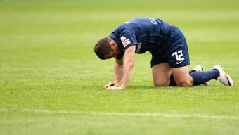 Am Boden: Die Position von Stürmer Alexander Kerschakow ist sinnbildlich für den FC Zürich.