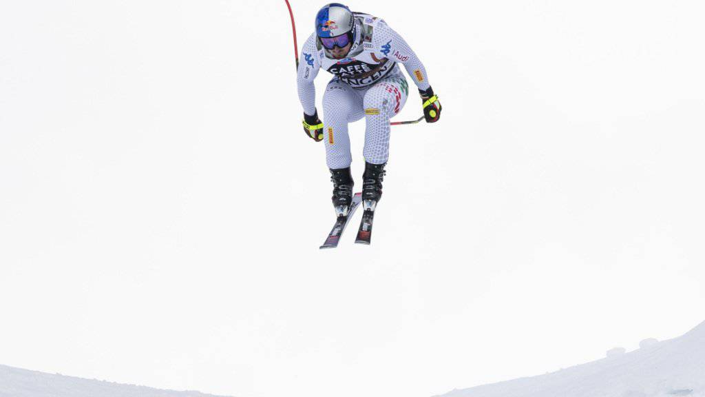 Mit Speed durch die Wengener Luft: Dominik Paris war am Donnerstag im Training der Schnellste