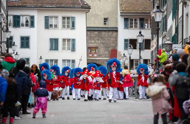Die Tambouren am Solothurner Fasnachtsumzug 2020