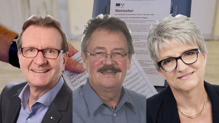 Panaschierkönige und Panaschierkönigin: Hans-Ruedi Hottiger, Roland Agustoni und Maya Bally Frehner.