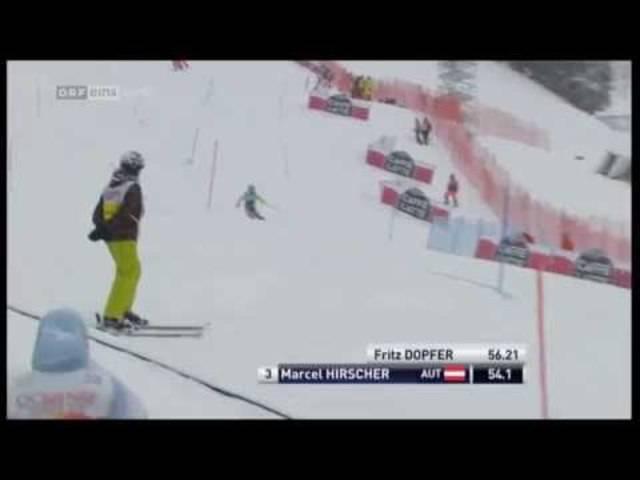Marcel Hirscher holt 2015 in Adelboden den dritten Platz.