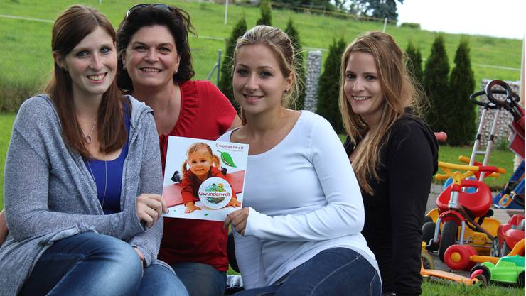 V. l.: Stefanie Gretsch, Christine Furrer, Gordana Kojic und Olivia Antal (Marketing).
