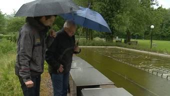Marder legt Wasserspiel in Bad Zurzach lahm.
