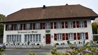 Im Moment noch geschlossen: das Restaurant zur Waage in Windisch.