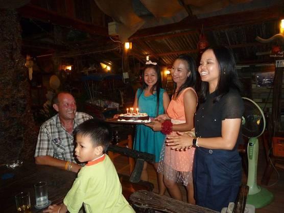 Geburtstagsfeier in der Residenz in Thailand