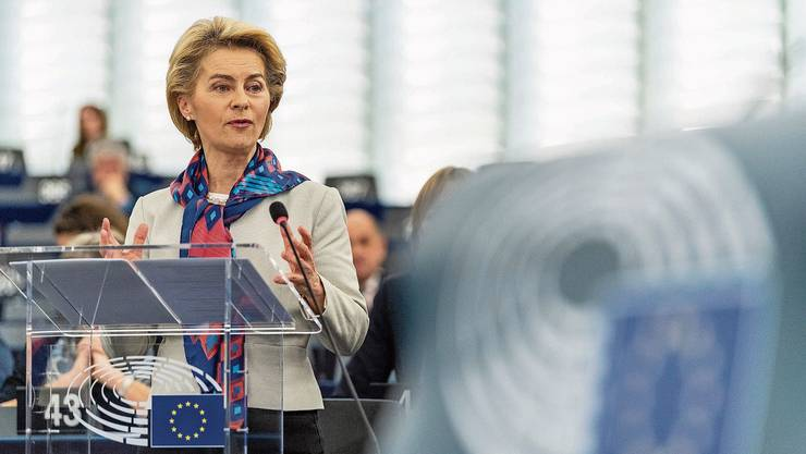 Ursula von der Leyen präsentierte am Dienstag im EU-Parlament ihre Klimaschutzpläne.