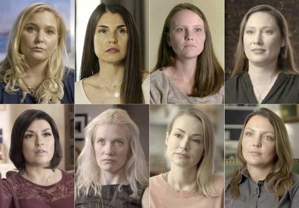 Einige von Epsteins Opfern.