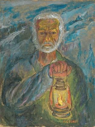 Selbstporträt von Ernst Sieber: Seine Gemälde werden nun erstmals in Zürich ausgestellt.