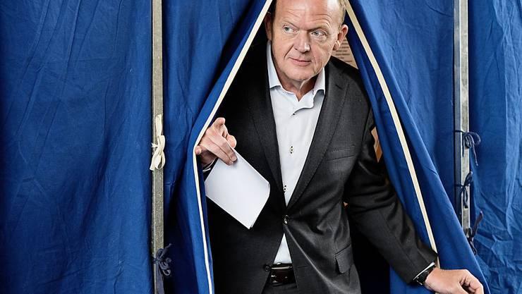 Möglich, dass er wieder die dänische Regierung leitet: Lars Loekke Rasmussen, hier bei der Stimmabgabe im Zentrum Kopenhagens.
